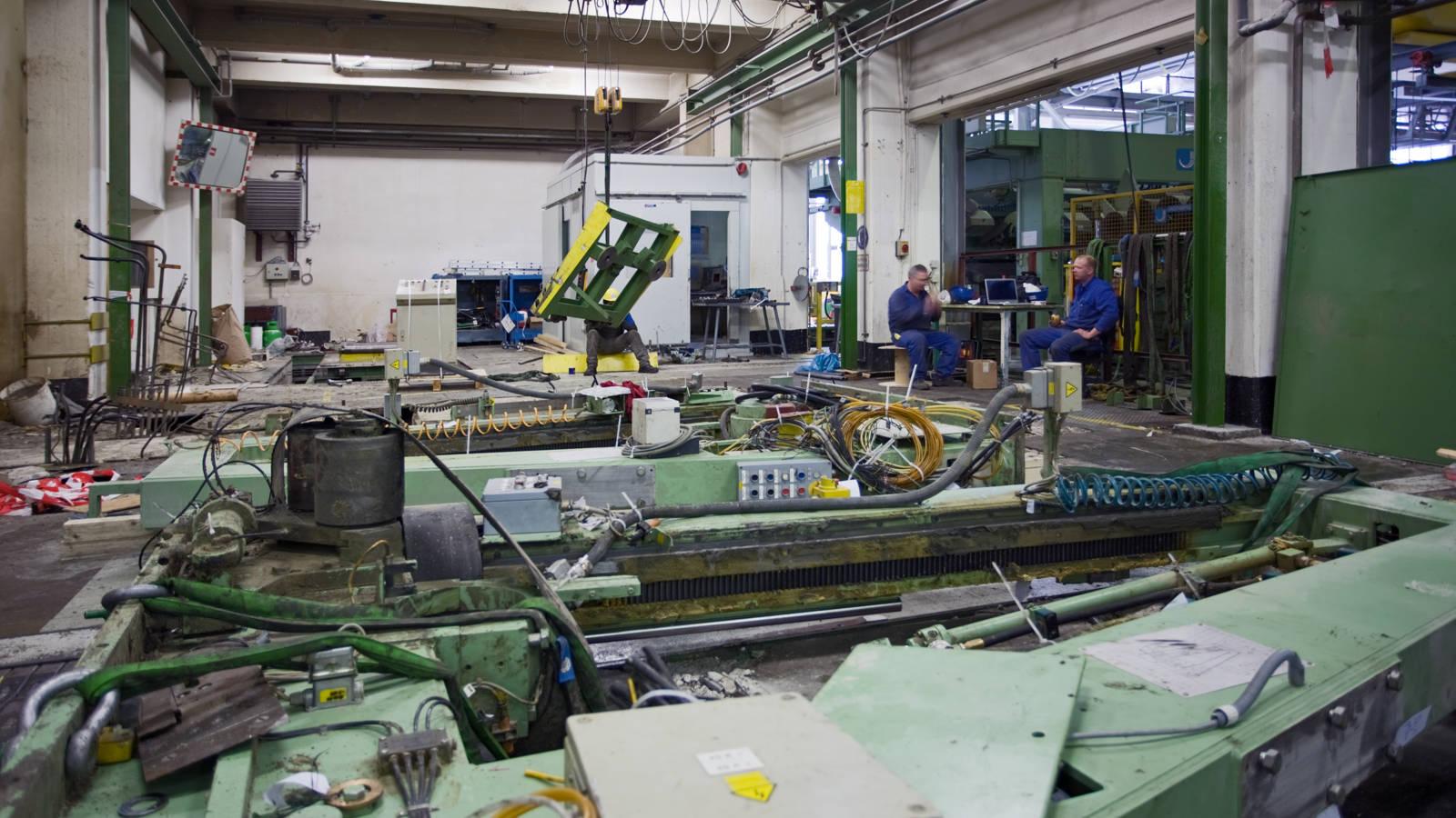 Demontage alter Industrieanlagen