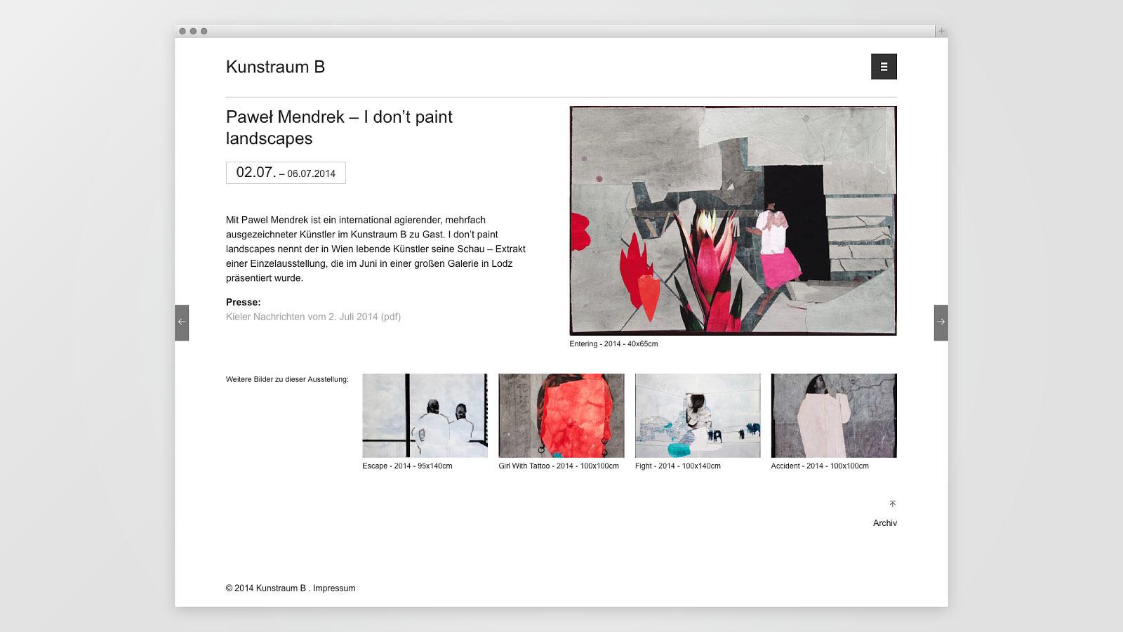 Informationen zu den jeweiligen Ausstellungen