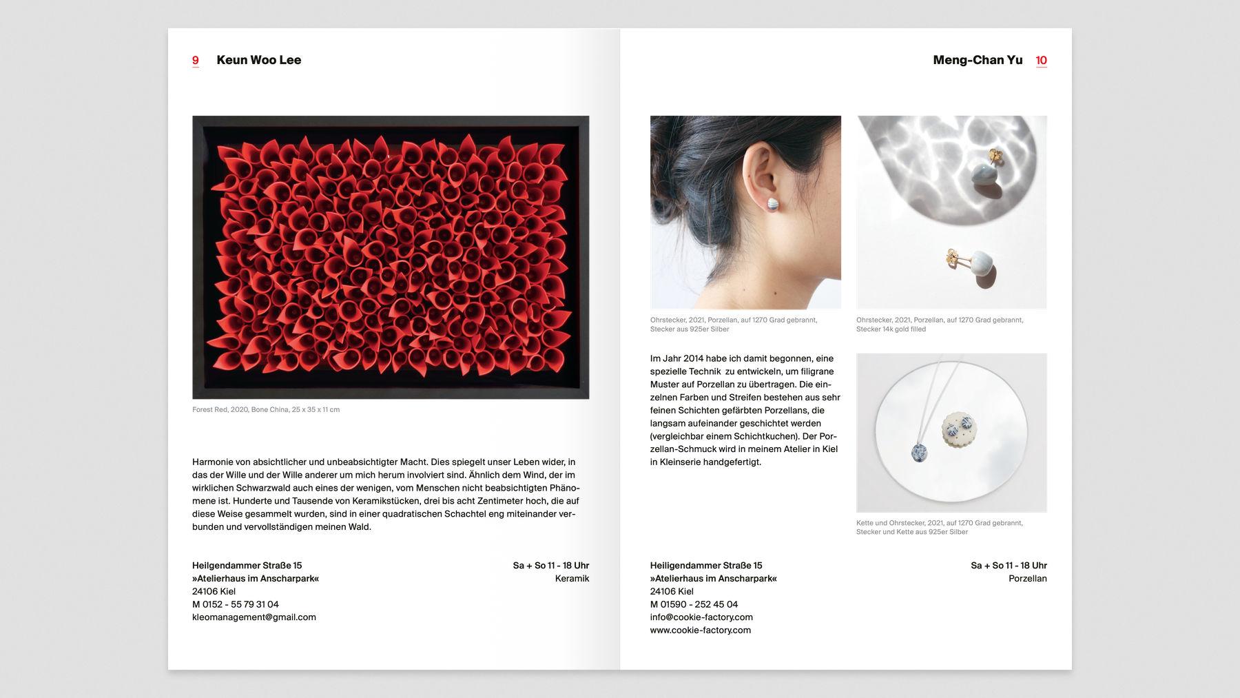 Doppelseite im Katalog